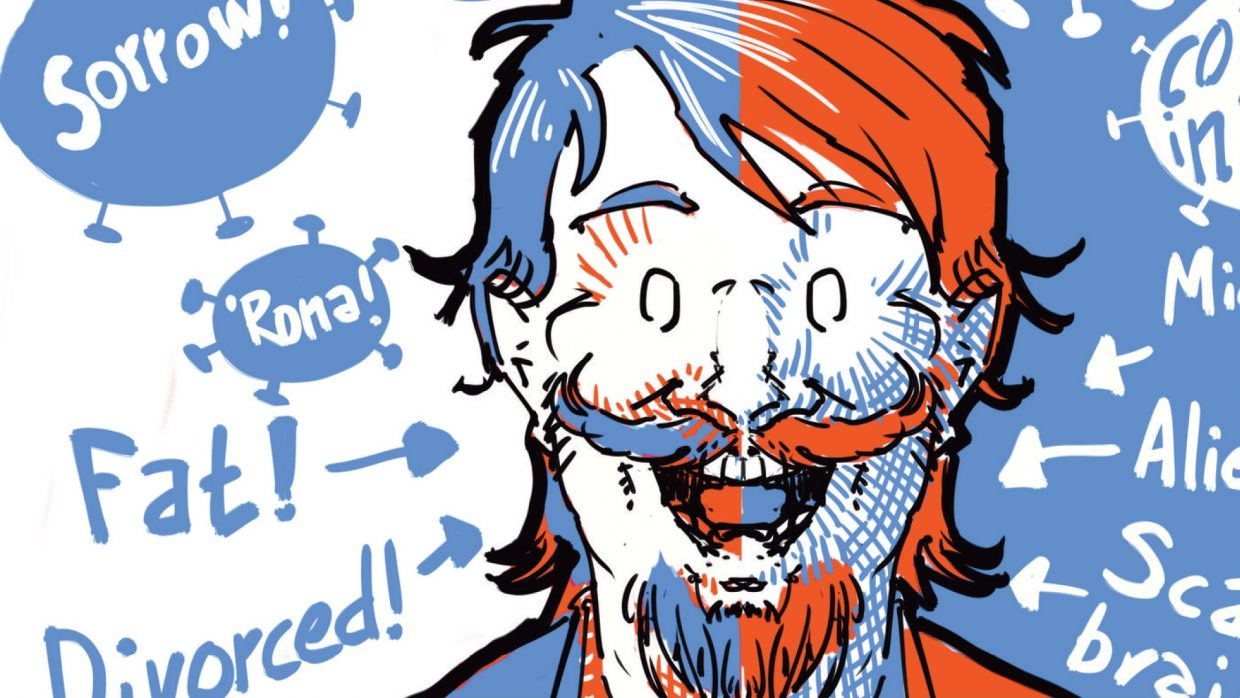 Detail from the cover of Karstein Volles comics album Pandemic Mindmap